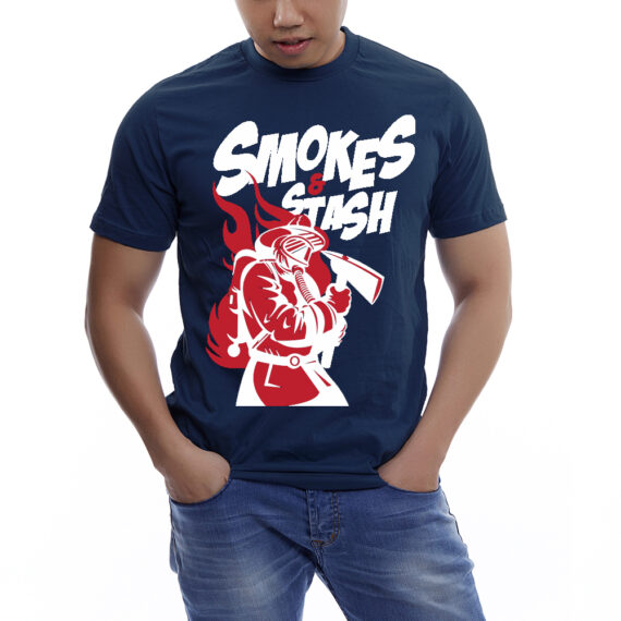 Smoke&Stash Nvy Tshirt Men – Front