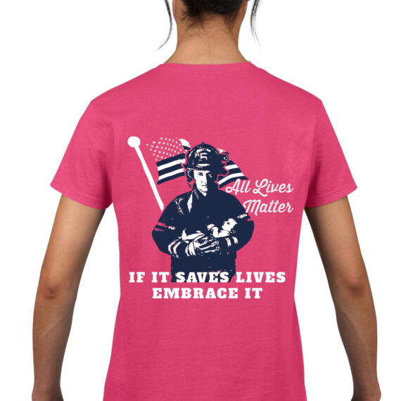 saving lives matter fuschia – back