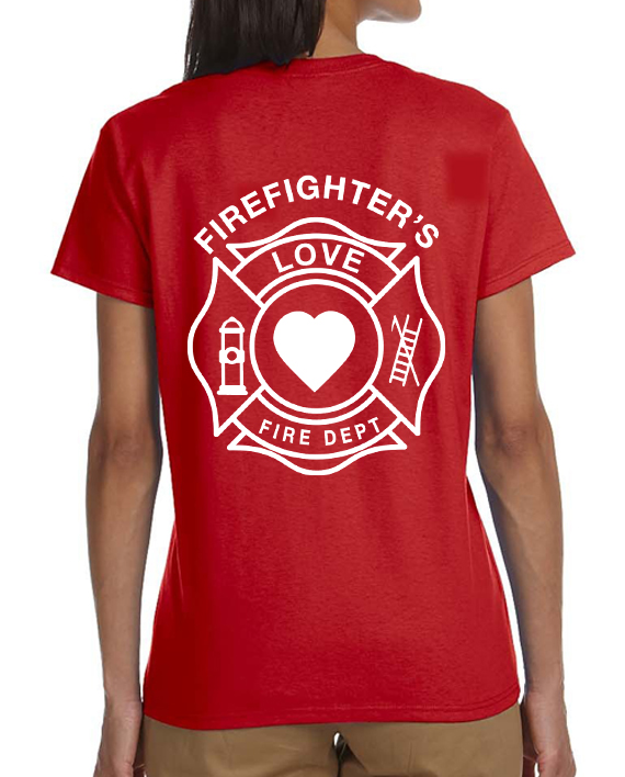 Firefighter Love Red Women – Back