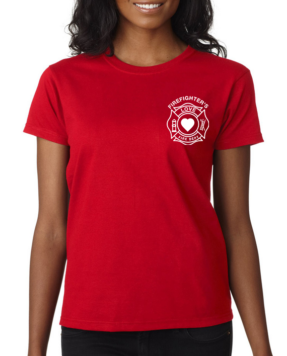 Firefighter Love Red Women – Front