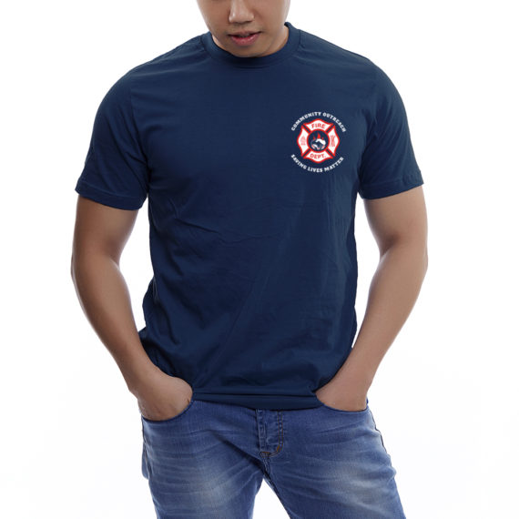 Saving Lives Nvy Tshirt Men – Front