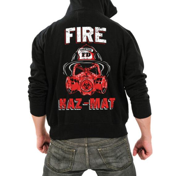 Fire Hazmat Blk Hoodie Back