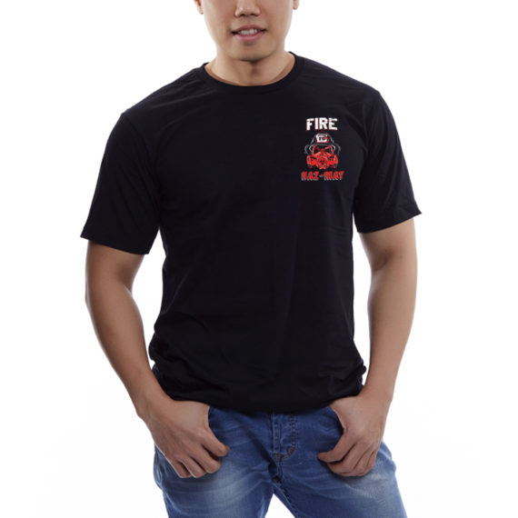 Fire Hazmat Blk Tshirt Front