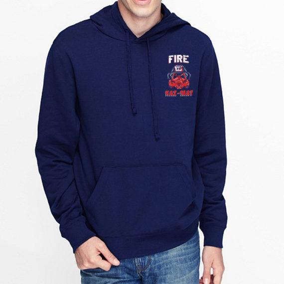 Fire Hazmat Navy Hoodie Front