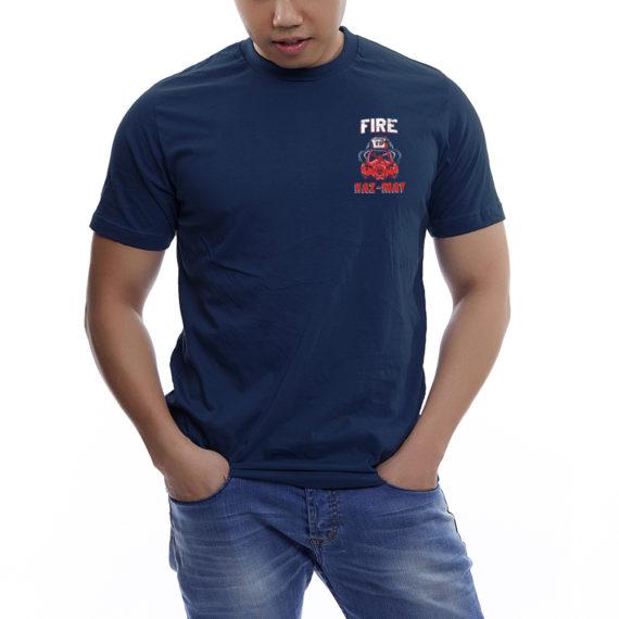 Fire Hazmat Navy Tshirt Front
