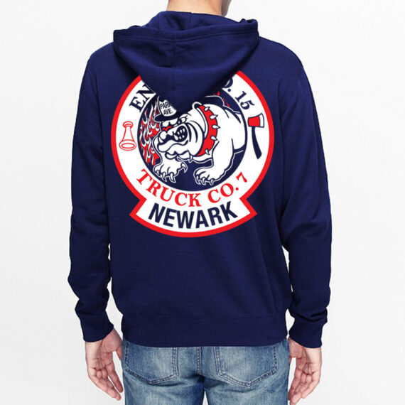 Park Ave Navy Hoodie Back
