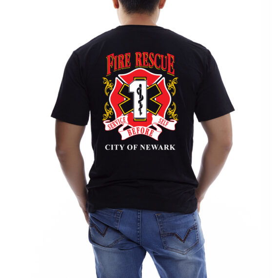 Fire Rescue Black – BACK