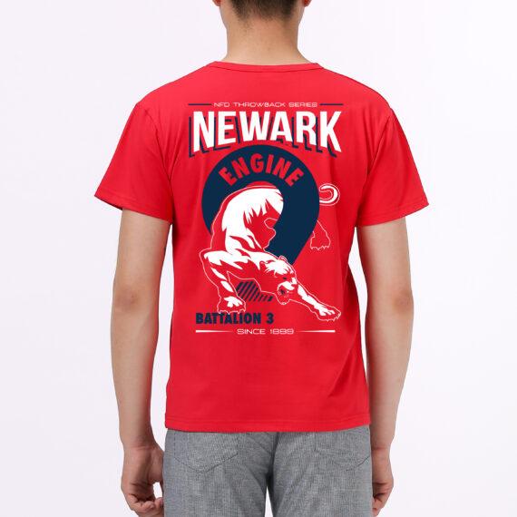 Engine 9 red tshirt men – back