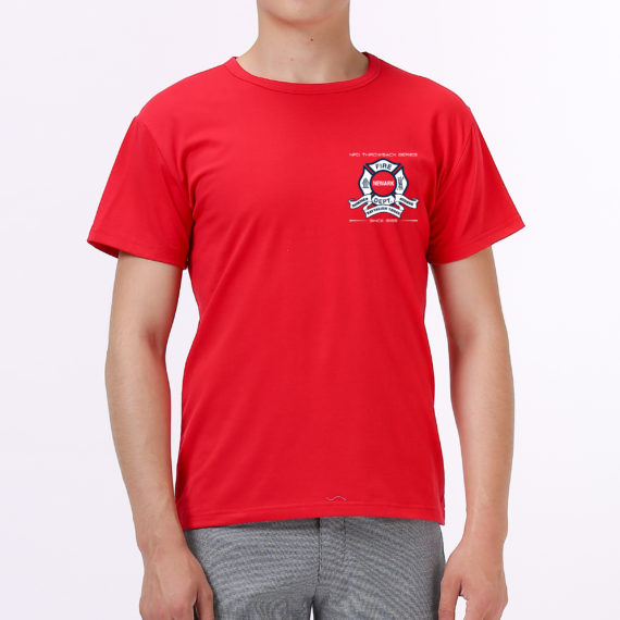Engine 9 red tshirt men – front