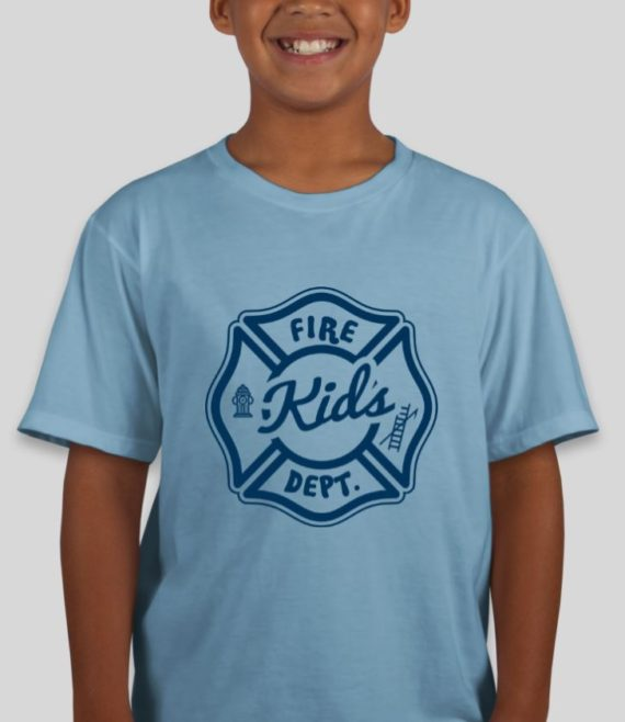 Fire Kids Light Blue Mockup – Front