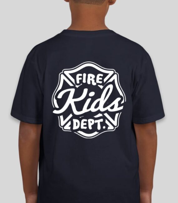 Fire Kids Navy Mockup – Back