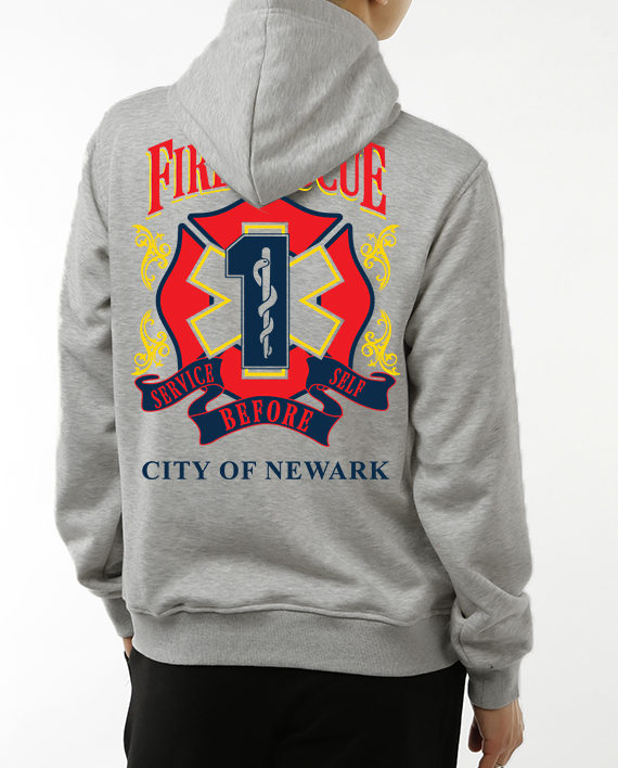 Fire Rescue heather gray back