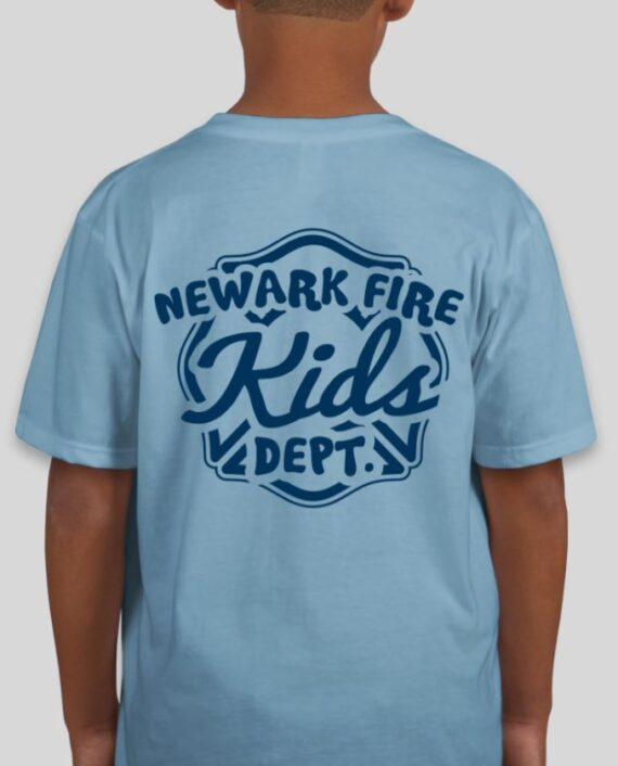 Newark Fire Kids Light Blue Mockup – Back