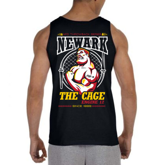The Cage BLACK Tank BACK Mockup