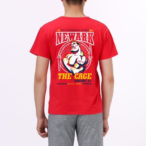 The Cage red tshirt men – back