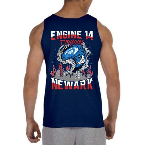 Typhoon – Mockup BACK – Navy Tshirt