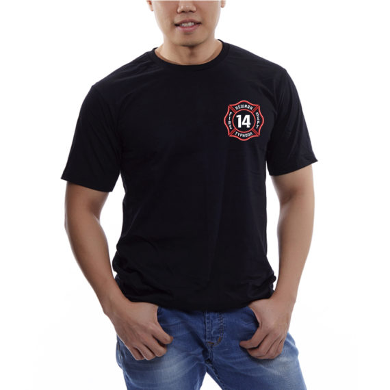 Typhoon – Mockup FRONT – Black Tshirt