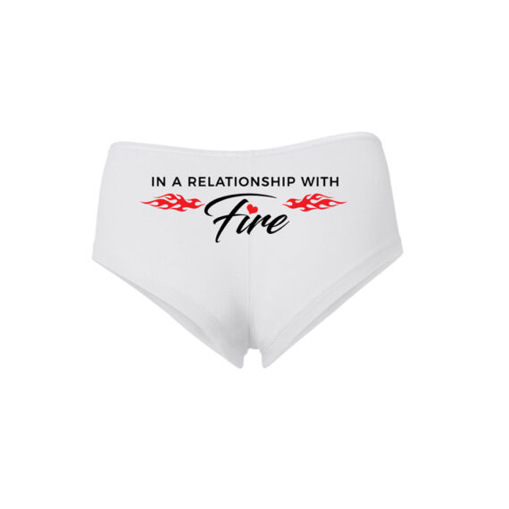 In Love Relationship WHITE BOY SHORTS – BACK