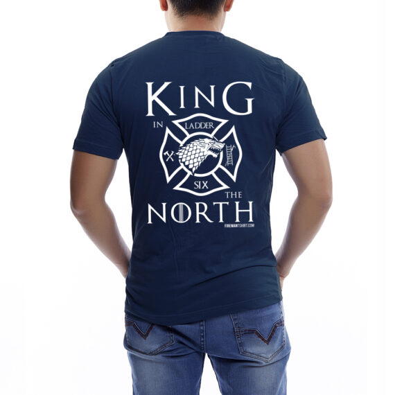 King of the North NAVY TSHIRT – BACK