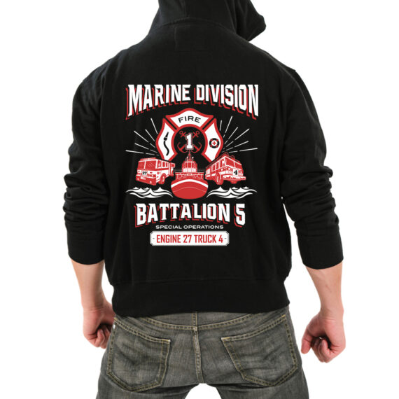 Marine Division BLACK HOODIE – BACK
