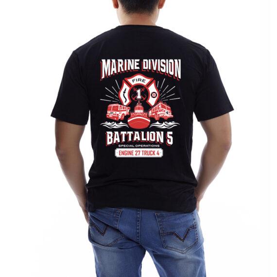 Marine Division BLACK TSHIRT – BACK