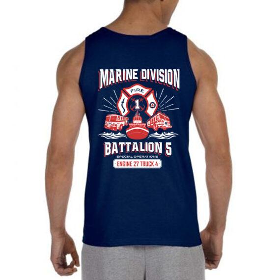 Marine Division NAVY TANK BACK
