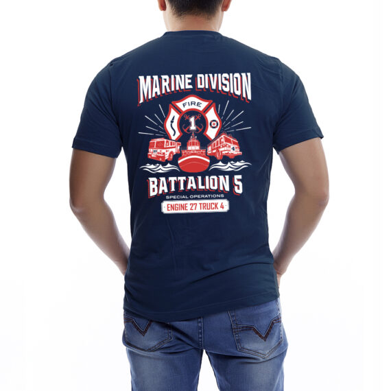 Marine Division NAVY TSHIRT – BACK