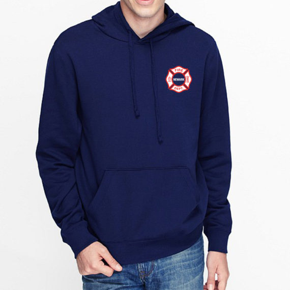 The Burg NAVY HOODIE – FRONT